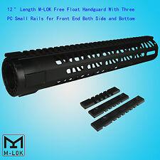 """M-LOK 12"""" Ultralight Free Float Handguard Forend For 5.56/.223 Black US SELLER"""