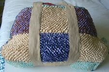 Handcrafted Raffia Shopping Bag - Unique item