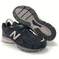 New Balance Boys 990v4 Black Gray Suede Running Shoes Grade School Sizes