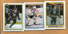 (3) SABRES ALEX MOGILNY 1990-91 ROOKIE NRMT-MT  CARD (H0130)