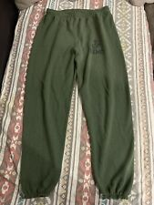 VNTG🔥 CAC USMC Marine Corps Made in USA Olive Green Jogger Pants Cuffed Large