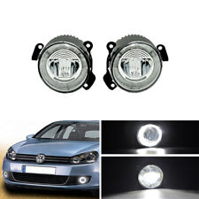 CANbus Led Fog Light DRL Halo For VW Golf Touareg Polo Skoda Fabia 6Y Roomster
