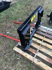 Tractor Hay Spear Attachment double Spike Skid Steer Quick Tach Bobcat