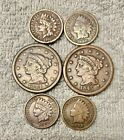Old+U.S.+coins+lot+from+1800%27S+-+2+large+cent%2C+1844+%2B+1845+%2B+4+INDIAN+head.