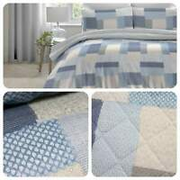 Dreams & Drapes BOHEME Blue 100% Brushed Cotton Duvet Cover Set / Bedspread