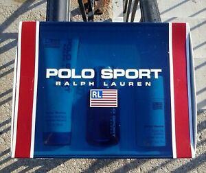 Vintage Ralph Lauren Polo Sport Gift Set (2.5 EDT/4.2 PS/2.6 AFD) Men 1993 Rare