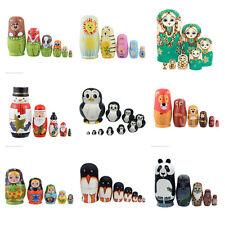 1Set Russische Matroschka Babuschka Matrjoschka Holz Puppe Baby Kinder Spiezeug