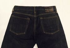 RALPH LAUREN BLACK LABEL STRAIGHT RESIN RINSE SELVEDGE SELVEGE DENIM JEANS