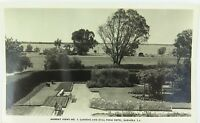 .MURRAY VIEWS POSTCARD NO 9. BARMERA, SA. GARDENS & OVAL FROM HOTEL.