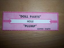 """1 Hole Doll Parts / Plump Jukebox Title Strips Cd 7"""" 45Rpm Records"""