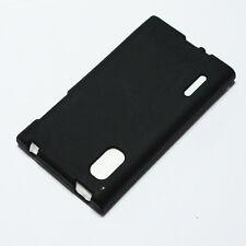 Black Gel TPU Matte Case Skin Cover for LG Optimus L5 / E610 / E612 / LGE610