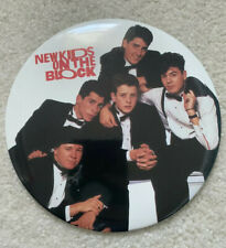 Vtg. New Kids On The Block 6� Collector Pin Button W/ Unused Stand