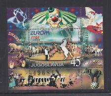 YUGOSLAVIA 2560 MNH 2002 EUROPA, CIRCUS *SOUVENIR SHEET 60 EUROS ($72)*