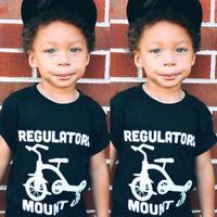 Cartoon Toddler Kids Boys Girls Short Sleeve Top Tee T-shirt Clothes Outfits