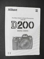 Nikon D200 Digital Camera Instruction Book / Manual / User Guide