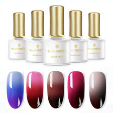 5 Bottles 6ml BORN PRETTY Thermal Color Changing Soak Off UV Gel Polish Nail Art