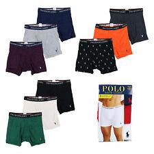 Polo Ralph Lauren para hombre ropa interior 3 Pack Calzoncillos Boxer Nuevo Logotipo Clásico Calce Pony