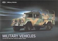 KIA MILITARY VEHICLES 2014 4x4 6x6 8x8 SOUTH KOREAN ARMY BROCHURE PROSPEKT