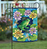 Toland Frog & Waterlilies 12.5 x 18 Colorful Dragonfly Flower Pad Garden Flag