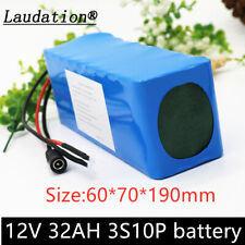 Laudation 12V 32AH rechargeable battery DC 18650 li-ION battery outdoor power