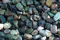 1LB Green Moss Agate Tumbled Gemstones Wholesale Bulk TRAGR-16-7L20