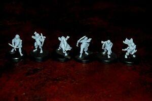 Halflings 28 mm unpainted 3D Printed 6 Archers LOTR Compatible Davale Games