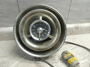 "1953 1954 Pontiac Bullseye Clock Speaker Assy, 8.75"" Diam, GM, Rat Rod"