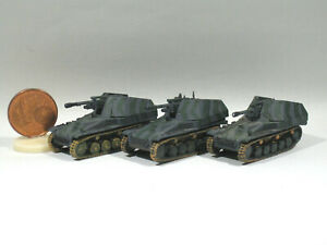 3 x Geschütz Hummel B