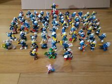 Vintage Smurf PVC Figures Peyo Schleich 70s 80s Collection/Lot of 75 Rare Smurfs