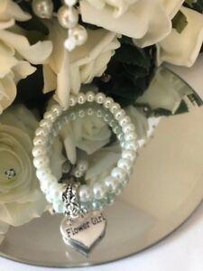 Bridesmaid, Flower Girl, Child, Kids Bracelet, Thank you Gift