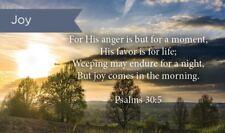 Pass Along Scripture Cards, Joy, Psalms 30:5, Pack 25