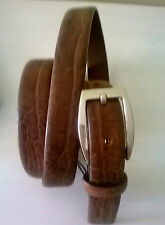 Cintura donna marrone terra di Siena.Effetto animalier.115 Cm ROMEO GIGLI.Pelle
