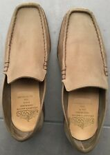 Grenson bench made in the UK slip on tan suede loafer shoes in size 9G /43 Eu.