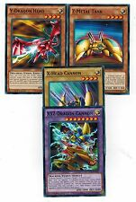 XYZ Fusion Set of 4 New( X Head Cannon + Y Dragon + Z Metal Tank)1st Seto Yugioh