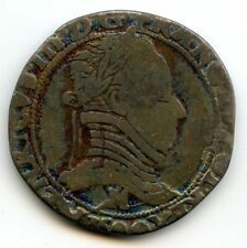 La Ligue au nom d'Henri III 1/2 Franc au col plat 1590 M Toulouse