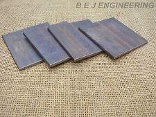 Black Steel Plate 100mm x 100mm x 6mm - Pack of 4 - Mild Steel