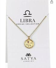 Satya Jewelry NEW! 18kt Gold Plated Libra Citrine Zodiac Necklace