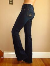 Seven 7 For All Mankind $198 A-Pocket Slim Illusion Bootcut Flare Jeans Dark 26