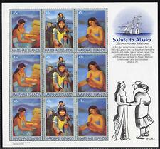 Marshall Islands 215a Sheet MNH Alaska, Native Life, Art, Mother & Child