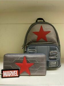 Loungefly Marvel The Winter Soldier Mini Backpack and Wallet Set