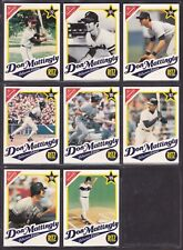 DON MATTINGLY 1989 Nabisco Ritz Complete Set of Individual Cards '72-'89