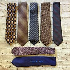 Lot of 7 Men's Silk Ties Neckties Nordstrom Talbott J.Z. Richards Ferrell Reed