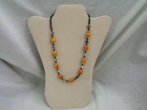 New Hand-Beaded Hermatite Stone Necklace