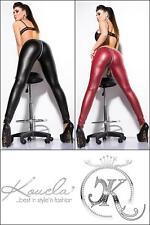 Damen-Leggings aus Kunstleder ohne Muster