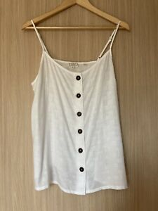 Fat Face Ivory Camisole Top Size 14 BNWOT