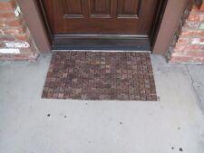 Rose Wood Brown Door Mat (2-PACK)
