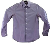 Express 1MX Dress Shirt Mens Size 15 Medium Modern Fit Light Purple Long Sleeve