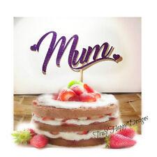 Mum cake topper glitter topper for birthday - 28 Glitter options