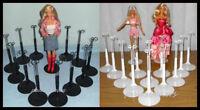 2 dozen 24 Kaiser Doll Stands for BARBIE Monster High 12 BLACK & 12 WHITE