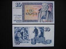 ICELAND  10 Krónur 1981 Signature 42  (P48a)  UNC